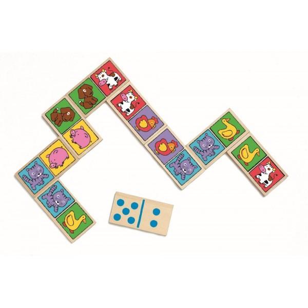 Domino-nimo készségfejlesztõ játék DJ01638