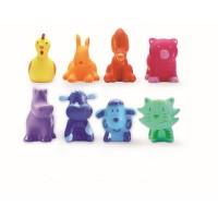 8 rainbow animals bébi játék DJ09115